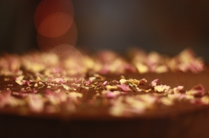Raw Food Chocolate Rose Love Cake